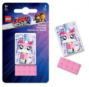 LEGO® 52323 Zestaw gumek LEGO® MOVIE 2™ Unikitty