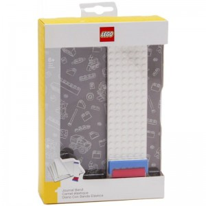 LEGO 51524 Journal with Building Band (Grey) (Notatnik z płytką konstrukcyjną LEGO® - szary)